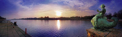 Photograph - Hanover Maschsee Panorama by Marc Huebner