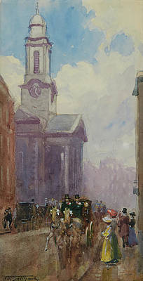 St. George Temple Painting - Hanover Square by Frederic