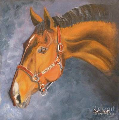 Painting - Hanoverian Warmblood Sport Horse by Susan A Becker