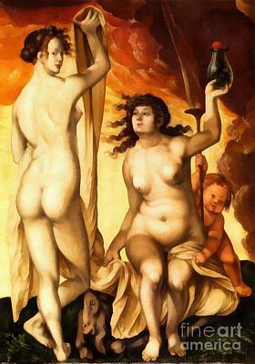 Hans Baldung Griens Weather Witches1523 Art Print by Jinsei Takahashi