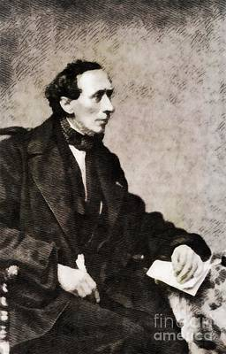 Literature Painting - Hans Christian Andersen, Literary Legend by John Springfield