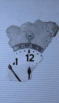 Photograph - Hans Clock Cyan by Rob Hans
