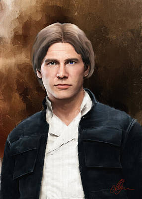 Painting - Hans Solo Star Wars  by Michael Greenaway