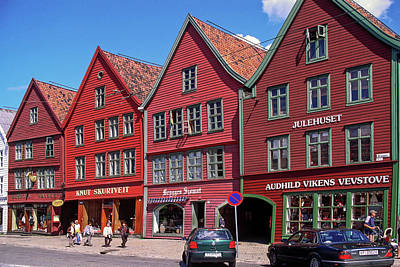 Photograph - Hanseatic Wharf Bergen by Sally Weigand