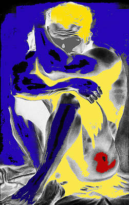 Painting - Original Contemporary Painting A Handsome Nude Man by RjFxx at beautifullart com