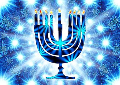 Hanukkah Digital Art - Hanukkah Greeting Card Vii by Aurelio Zucco