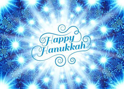 Hanukkah Digital Art - Hanukkah Greeting Card Viii by Aurelio Zucco