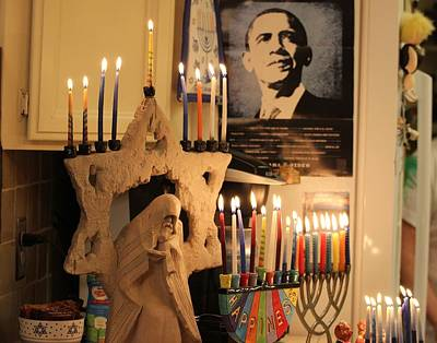 Photograph - Hanukkah Last Night by Gary Canant