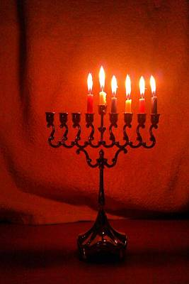 Photograph - Hanukkah On Fifth Day by Nieve Andrea