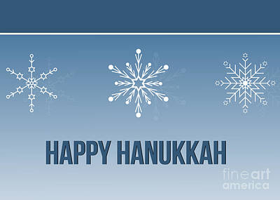 Digital Art - Hanukkah Star Flakes by JH Designs