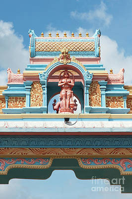 Photograph - Hanuman Archway Puttaparthi by Tim Gainey