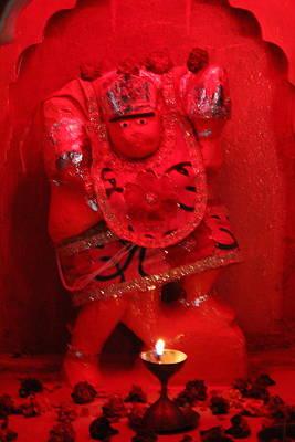Hanuman Ji, Vrindavan Art Print by Jennifer Mazzucco