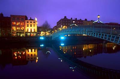 Reflexion Photograph - Hapenny Bridge, Dublin, Ireland by The Irish Image Collection