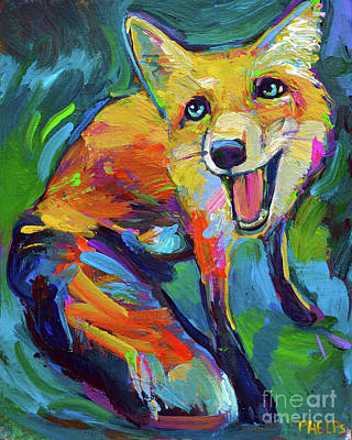 Painting - Happiest Fox by Robert Phelps