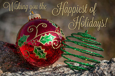 Photograph - Happiest Of Holidays by Teresa Wilson