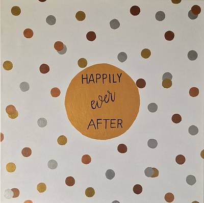 Bridal Shower Painting - Happily Ever After  by Kim Mlyniec