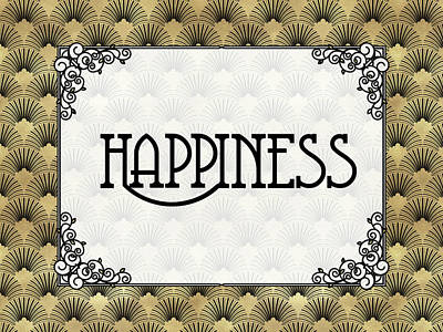 Digital Art - Happiness - Art Deco by Ruth Moratz