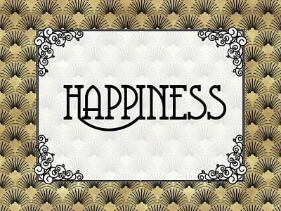 Digital Art - Happiness - Art Deco by Ruth Moratz