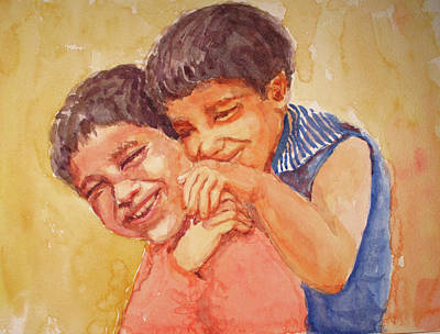 Painting - Happiness by Asha Sudhaker Shenoy