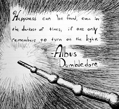 Harry Potter Drawing - Happiness Can Be Found by Jera Sky