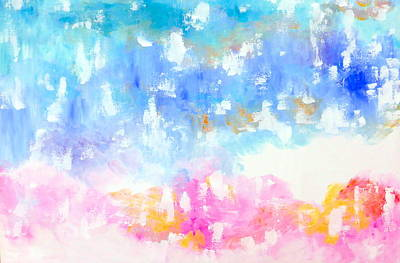 Soft Head Painting - Happiness Has Arrived by Cathy Jacobs