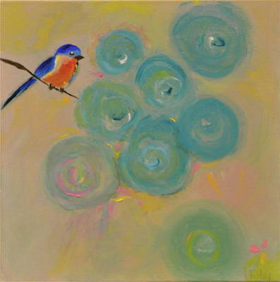 Painting - Happiness In Blue  by Teresa Tilley