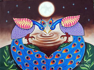 Painting - Happiness In Sharing by Ragunath Venkatraman