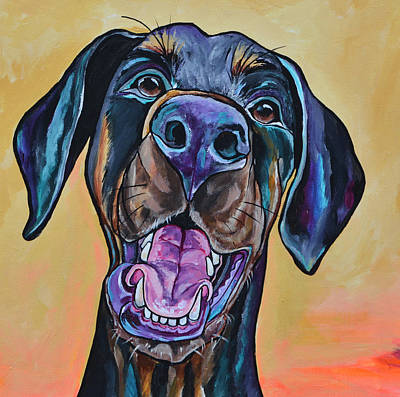 Happiness Is A Dog Art Print by Patti Schermerhorn