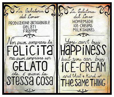 Digital Art - Happiness Is A Gelato by Dorothy Berry-Lound