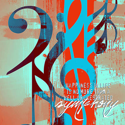 Happiness Is A Symphony V2 Art Print by Brandi Fitzgerald