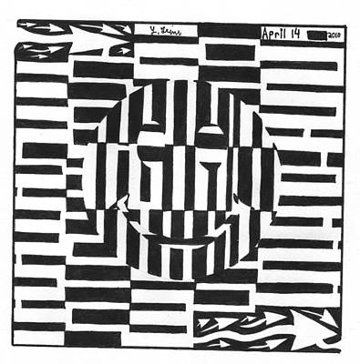 Happiness Is An Illusion Maze Art Print by Yonatan Frimer Maze Artist