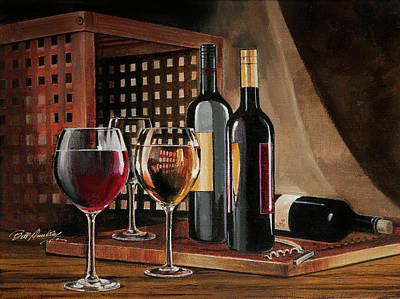 Cork Screw Painting - Happiness Is... by Bill Dunkley
