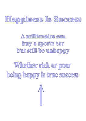 Happiness Is Success Art Print