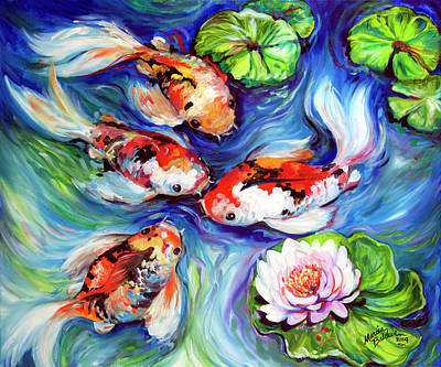 Painting - Happiness Koi by Marcia Baldwin