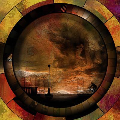 Mixed Media - Happiness Of Yesterday Grunge Contemporary by Georgiana Romanovna
