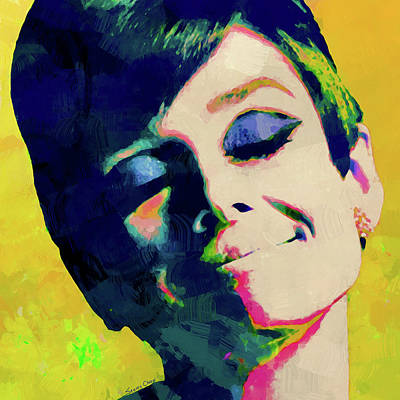 Audrey Hepburn Mixed Media - Happiness by Stacey Chiew