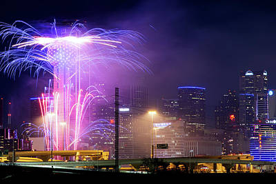 Photograph - Happy 2018 New Years Dallas by Rospotte Photography