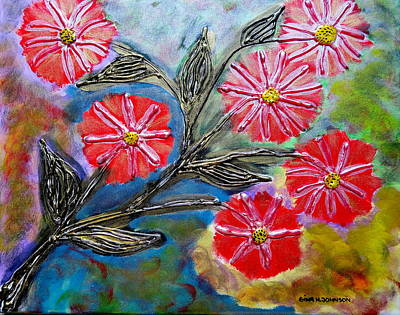 Painting - Happy - 3 D by Gina Nicolae Johnson