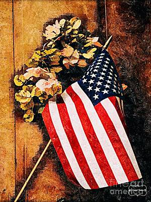 Mixed Media - Happy 4th Of July by MaryLee Parker