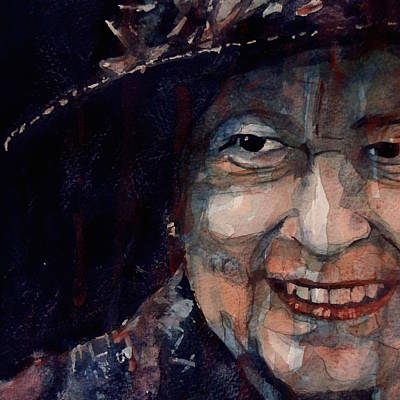 Birthday Painting - Happy 90th Birthday Elizabeth 11 by Paul Lovering