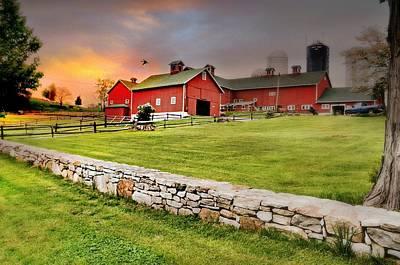 Photograph - Happy Acres Farm At Sundown by Diana Angstadt