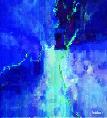 Mixed Media - Happy And Blue by Fania Simon