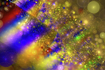 Happy And Colorful Abstract Art Art Print