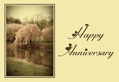 Photograph - Happy Anniversary Card by Angie Tirado