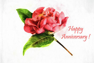Photograph - Happy Anniversary Greeting Card  by Kay Brewer