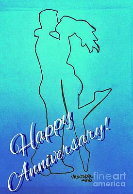 Special Occasion Drawing - Happy Anniversary Special Occasions Card by Scott D Van Osdol