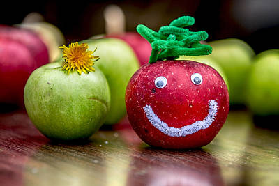 Digital Art - Happy Apples by John Haldane