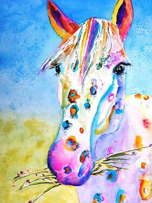 Watercolor Pet Portraits Painting - Happy Appy by Carlin Blahnik CarlinArtWatercolor