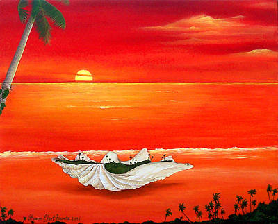 Painting - Happy As A Clam by Sharon Ebert