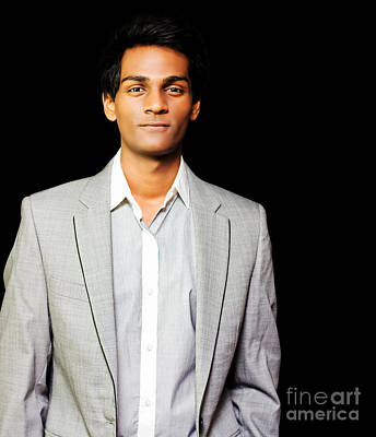 Happy Asian Businessman Art Print by Jorgo Photography - Wall Art Gallery